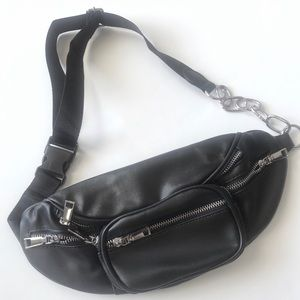 Handbags - Vegan Leather Fanny Pack with Adjustable Strap